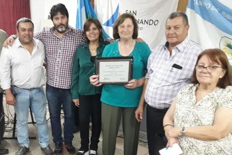 San Fernando acompaño al Centro de Jubilados 'Barrio Fate' en su 25° aniversario