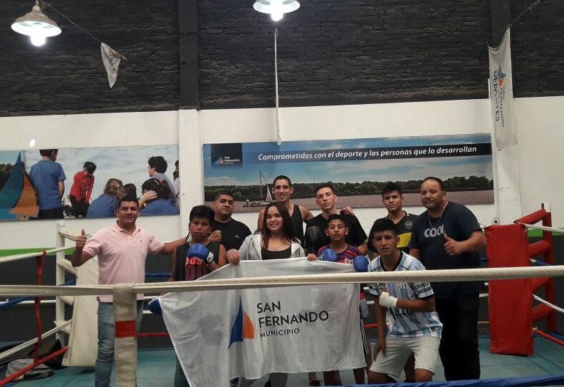 Los chicos del Centro Convivencial Terapéutico entrenaron en la Escuela de Boxeo de San Fernando