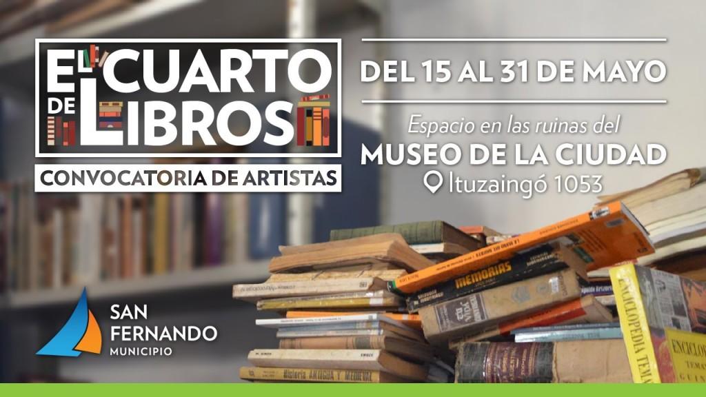 San Fernando y la Universidad Nacional de las Artes convocan artistas para la muestra 'Cuarto de Libros'