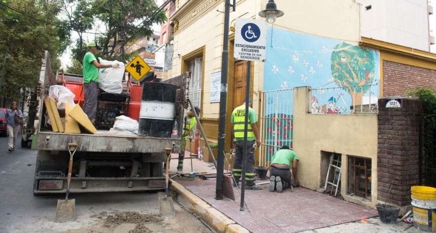 El Municipio construyó nuevas veredas y rampa de acceso en el Centro de Día 'Senderos de San Fernando'