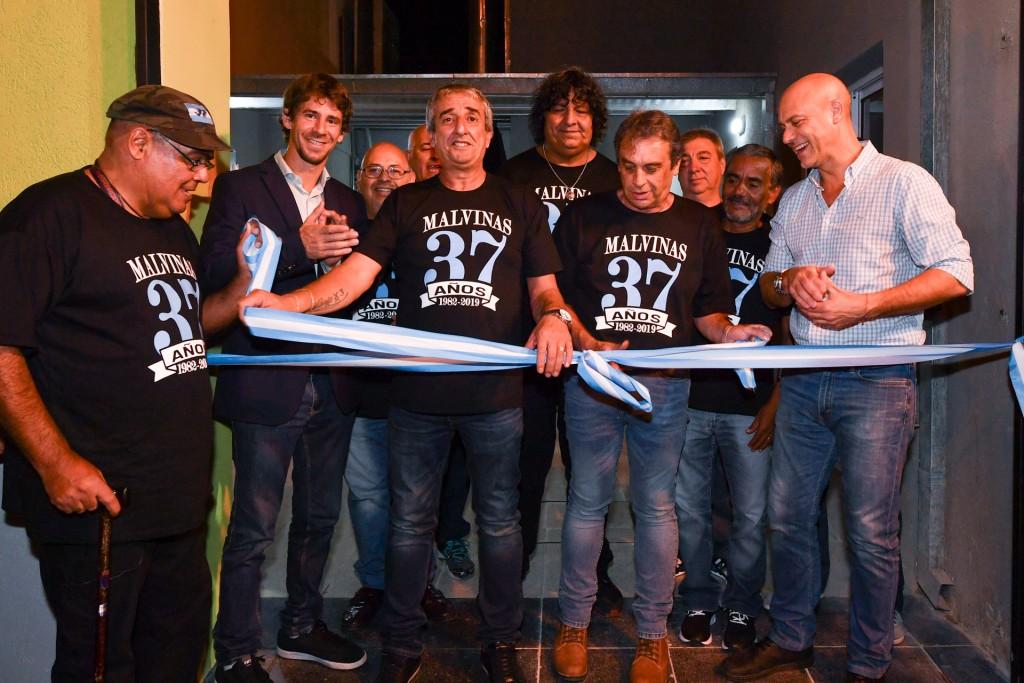 San Fernando inauguró la renovada sede de los Ex Combatientes de Malvinas