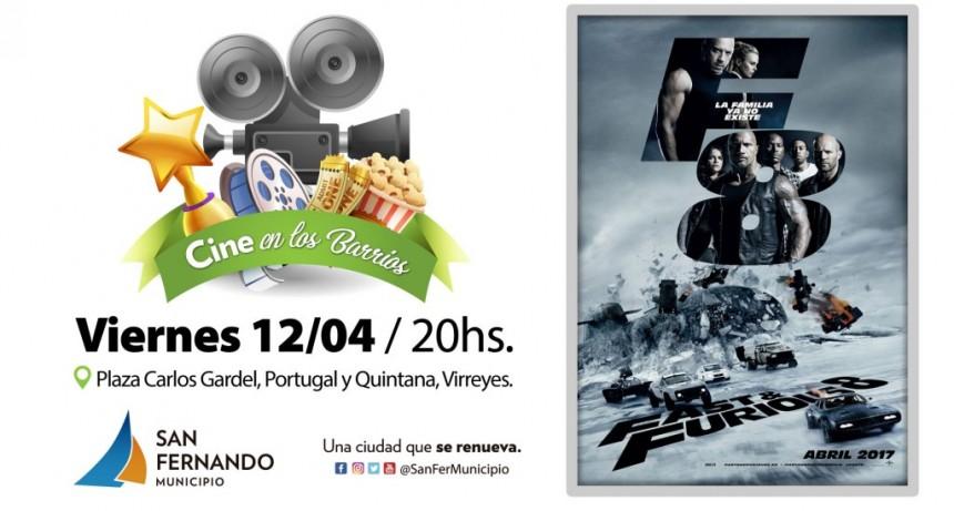 Este viernes, la película 'Rápidos y Furiosos 8' gratis en la Plaza Carlos Gardel