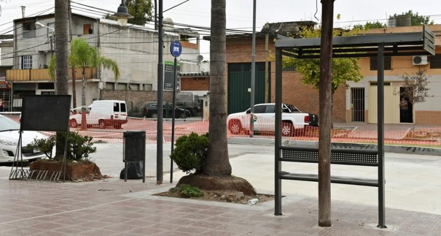 San Fernando renueva las veredas en la intersección de Ruta 202 y Av. Avellaneda