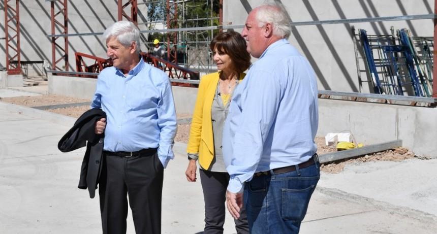 Luis Andreotti supervisó la obra del nuevo Centro de Servicios y Obras Públicas