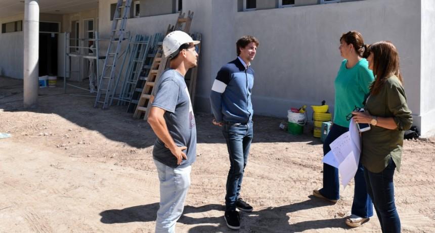 Juan Andreotti recorrió las obras del nuevo gimnasio del Polideportivo N° 2