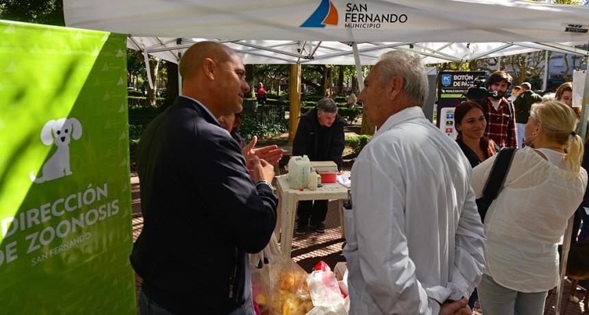 San Fernando festejó el Día del Animal con un gran operativo en la Plaza Mitre