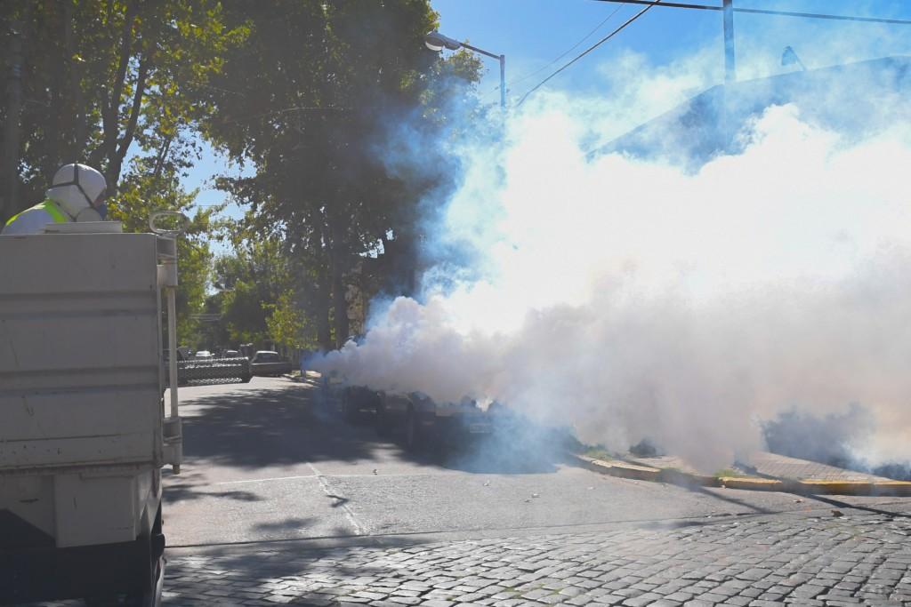San Fernando sigue realizando operativos de fumigación contra el dengue en todo el distrito