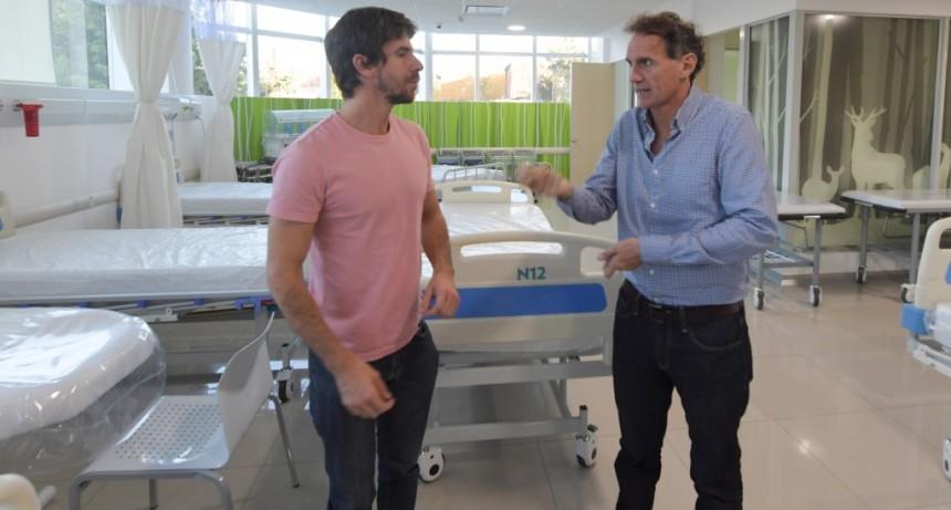 Andreotti y Katopodis acordaron reforzar la terapia intermedia del Hospital Municipal y llegar a 50 camas
