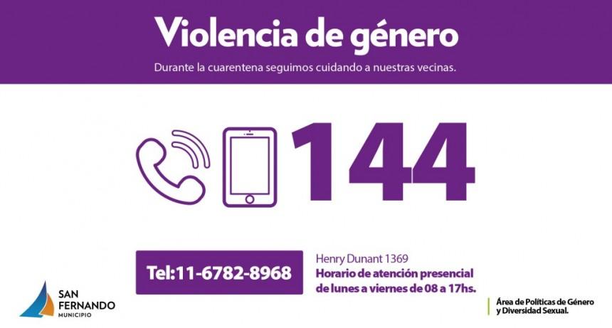 San Fernando sigue asistiendo casos de violencia de género y familiar durante la cuarentena