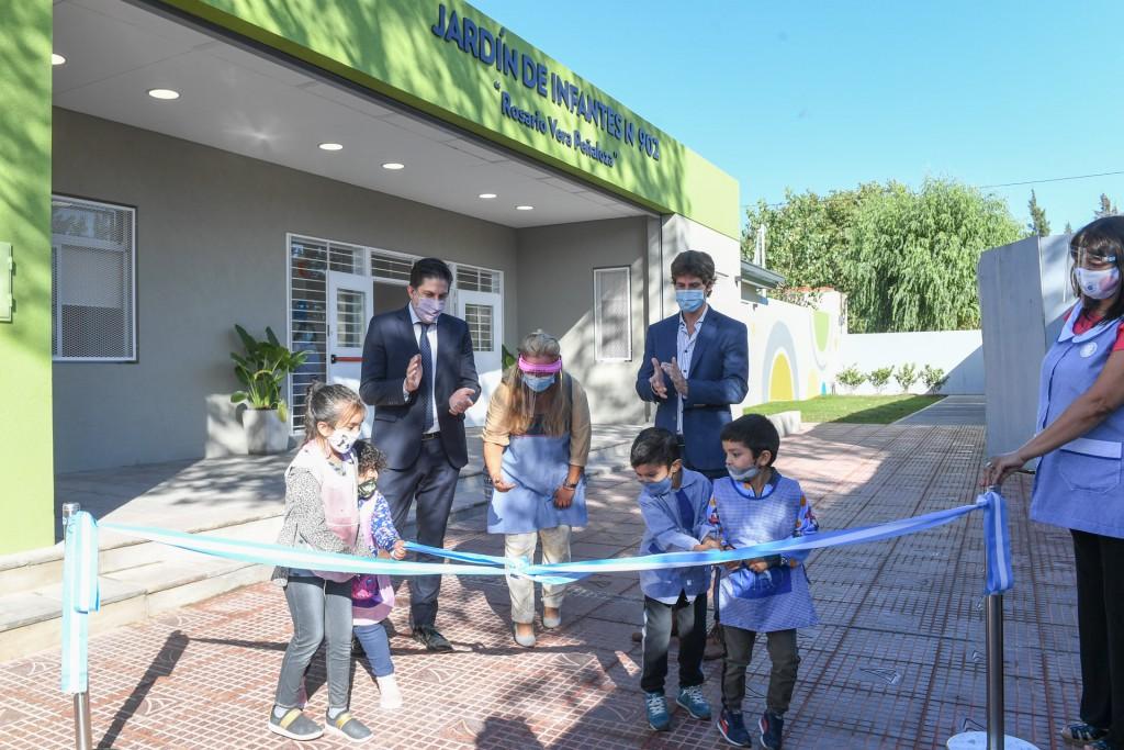 Juan Andreotti y Nicolás Trotta inauguraron el nuevo Jardín Nº 902 que se construyó con fondos municipales
