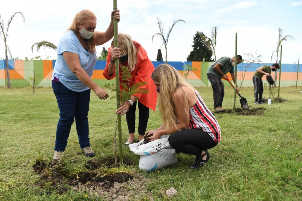 San Fernando, Rotary Club y Fundación Club de Roma plantaron 60 árboles nativos