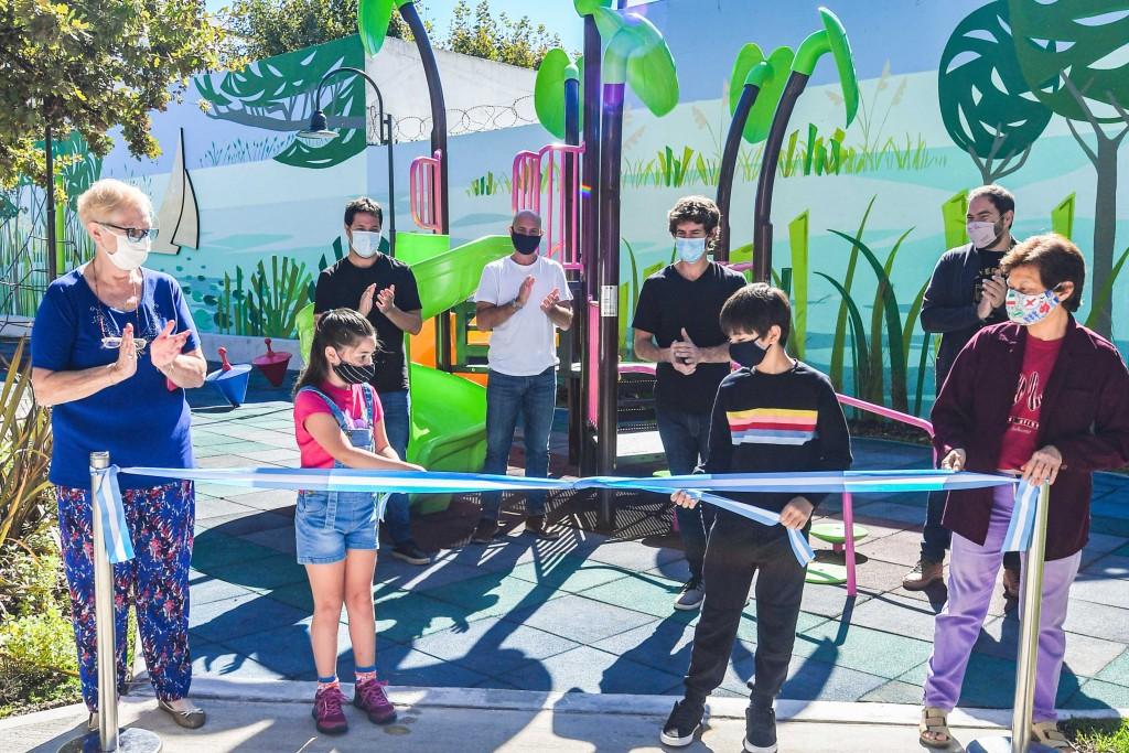 Juan Andreotti inauguró la renovación integral de la Plaza Cuquel de San Fernando