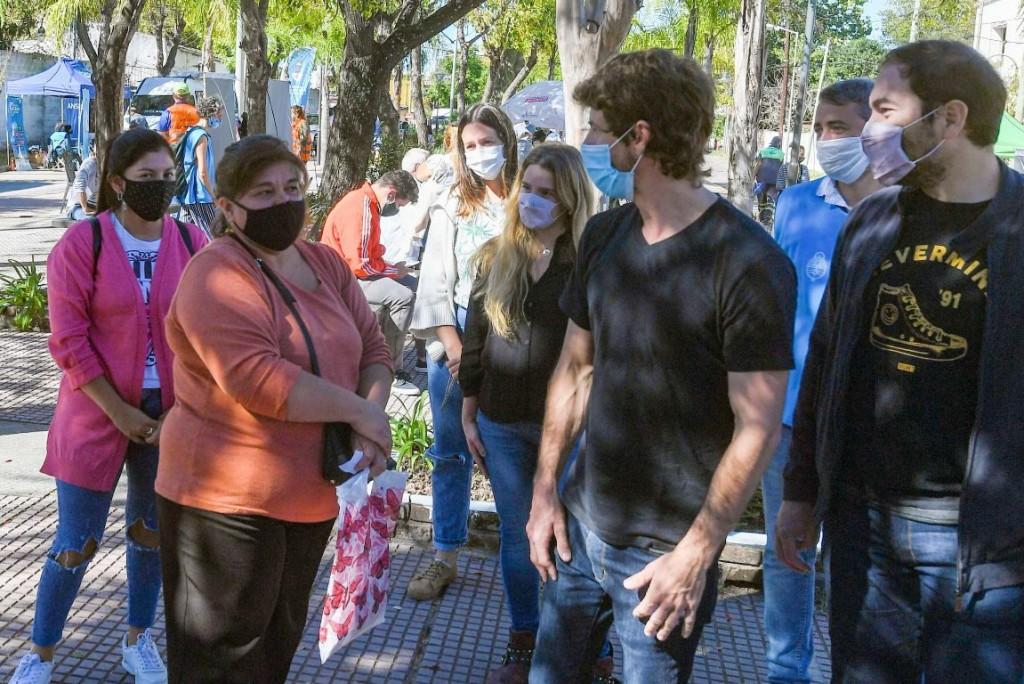 Juan Andreotti visitó el operativo de documentación y servicios que llevan adelante San Fernando y la Nación