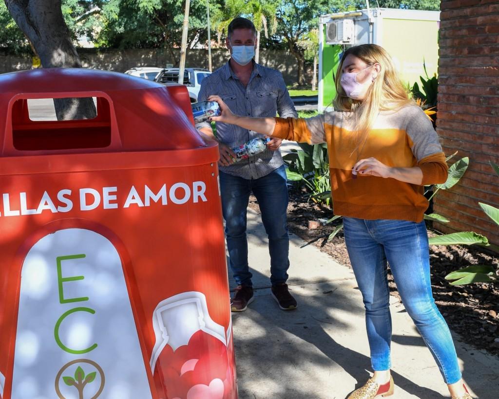 San Fernando instaló nuevas campanas de ´Botellas de Amor´ y ya recicló 15 mil kg de plásticos de un solo uso