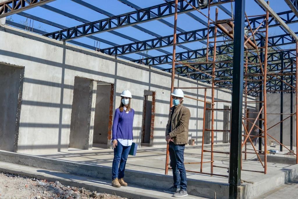 Juan Andreotti recorrió la última etapa de obra del nuevo Centro de Salud 31 de San Fernando