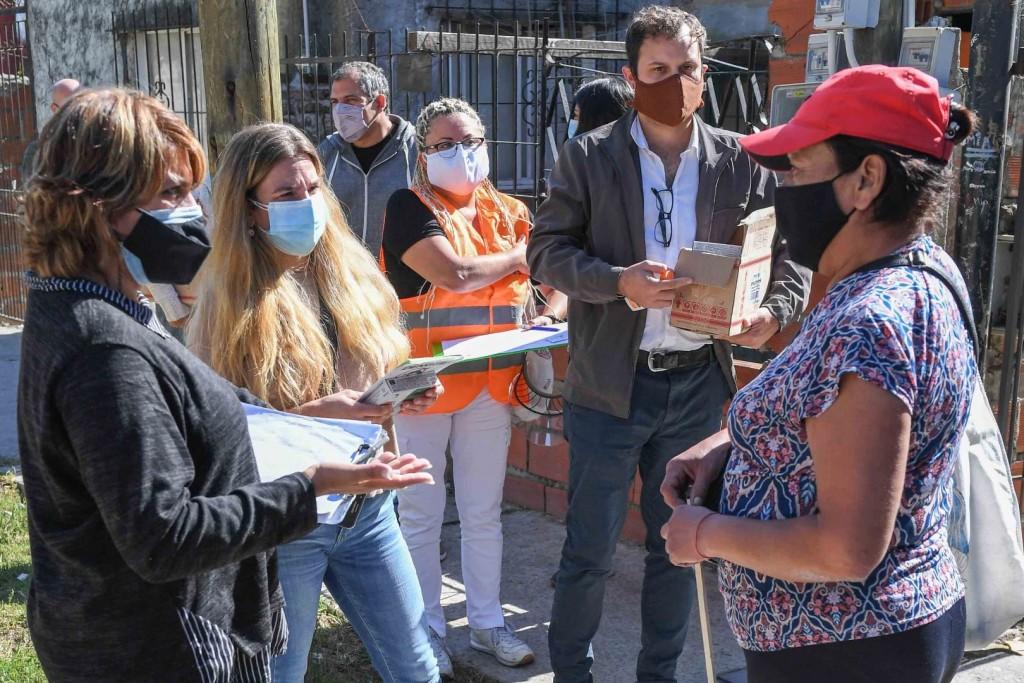 El Municipio realizó un nuevo operativo de prevención del dengue y vacunación en el barrio San Martín