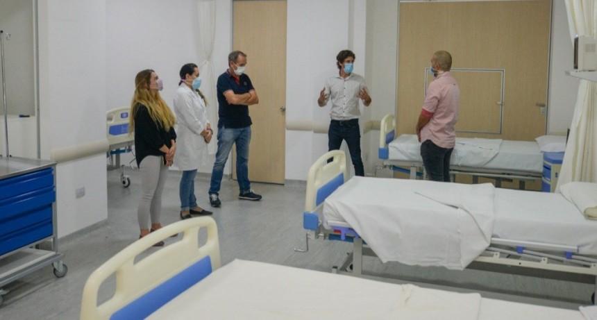 Juan Andreotti presentó la ampliación de camas de terapia en el Hospital Municipal de San Fernando