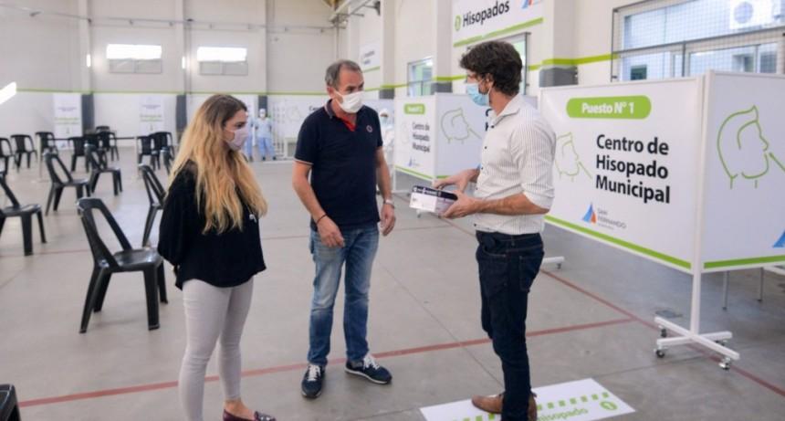 Juan Andreotti presentó un nuevo Centro de Hisopado Municipal en el Polideportivo Nº6
