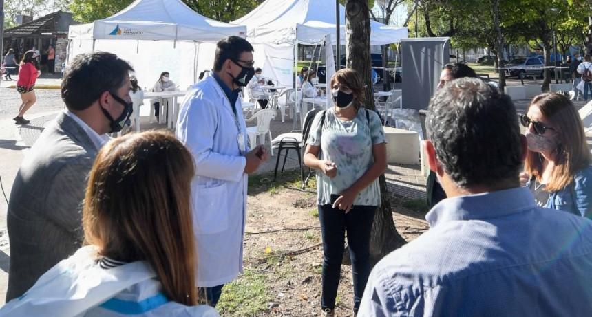 El Municipio de San Fernando llevó adelante un nuevo operativo 'DetectAR' en la plaza del barrio Infico