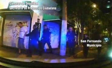 """""""Hombre araña"""" fue detenido por las patrullas de Protección Ciudadana de San Fernando"""