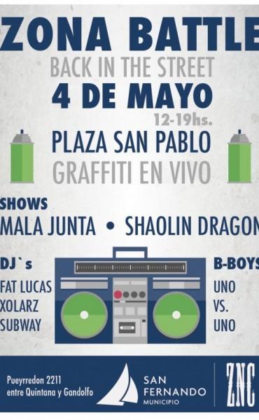 """Festival de Street Art: """"Zona Battle, Back in The Street"""" en la Plaza San Pablo"""