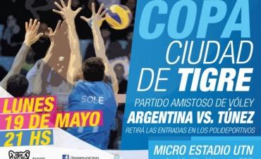 La selección argentina de vóley se presenta en Tigre