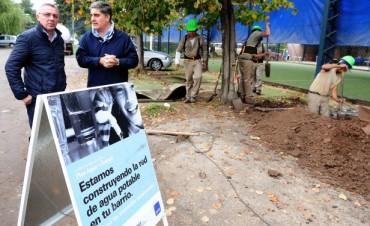Expansión de la red de agua potable en Pacheco