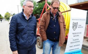 Nuevas redes de gas natural en Benavídez Centro
