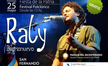25 de Mayo en San Fernando: Raly Barrionuevo, Acto Cívico, 'Festejo de los bombos' y gran festival popular