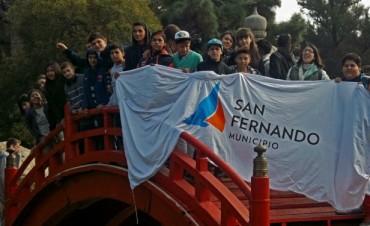 Los jóvenes del Programa Envión de San Fernando visitaron el Jardín Japonés