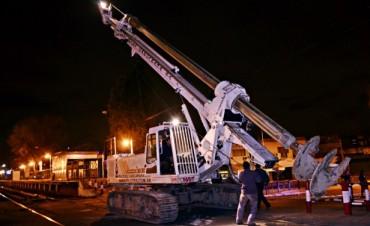 Se inició la excavación para los pilotes del túnel de la Avenida Avellaneda