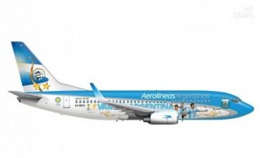 Mirá cómo se ploteó el avión mundialista