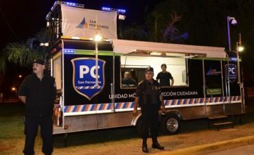 La nueva Unidad Móvil de Protección Ciudadana de San Fernando vigiló la zona de Bancalari