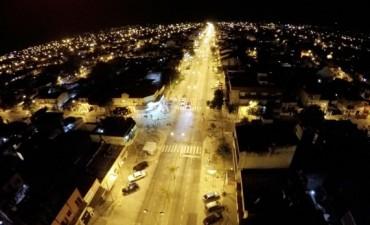 San Fernando es el primer Municipio con luz de vereda en todas sus cuadras