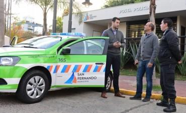 Leandro Costa, precandidato a intendente de Escobar, visitó San Fernando y elogió su sistema de seguridad