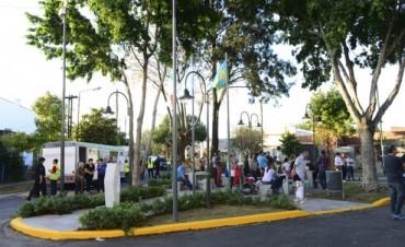 El Municipio de San Fernando inauguró la renovada Plazoleta Leopoldo Lugones