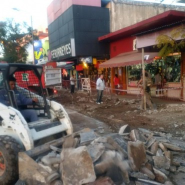 Comienza la renovación del Centro Comercial de la Av. Avellaneda