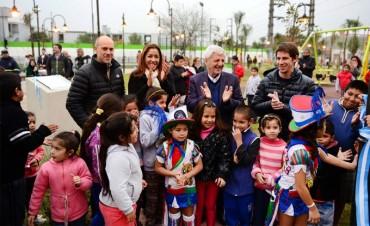 "Luis Andreotti inauguró la plaza ""Santa Rosa de Lima"""