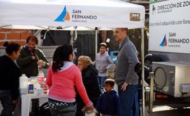 Móviles municipales de Vacunación y de Zoonosis y el área de Atención al Vecino, en los barrios