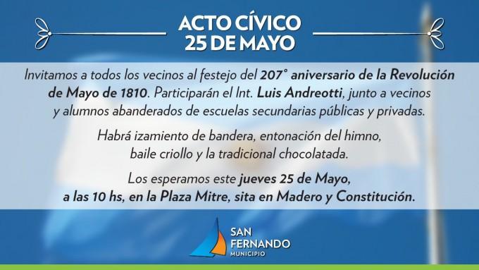 San Fernando conmemora el Día de la Patria