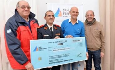 San Fernando otorgó una nueva ayuda económica a los Bomberos Voluntarios