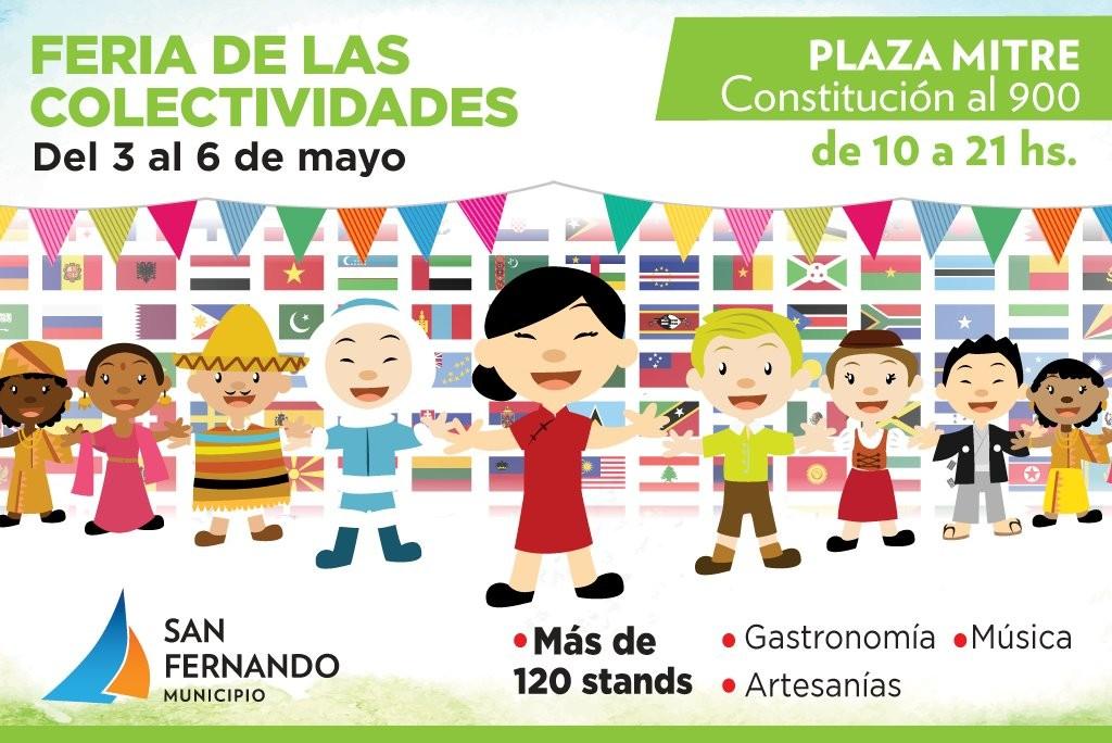 La Expo de las Colectividades volvió la Plaza Mitre de San Fernando