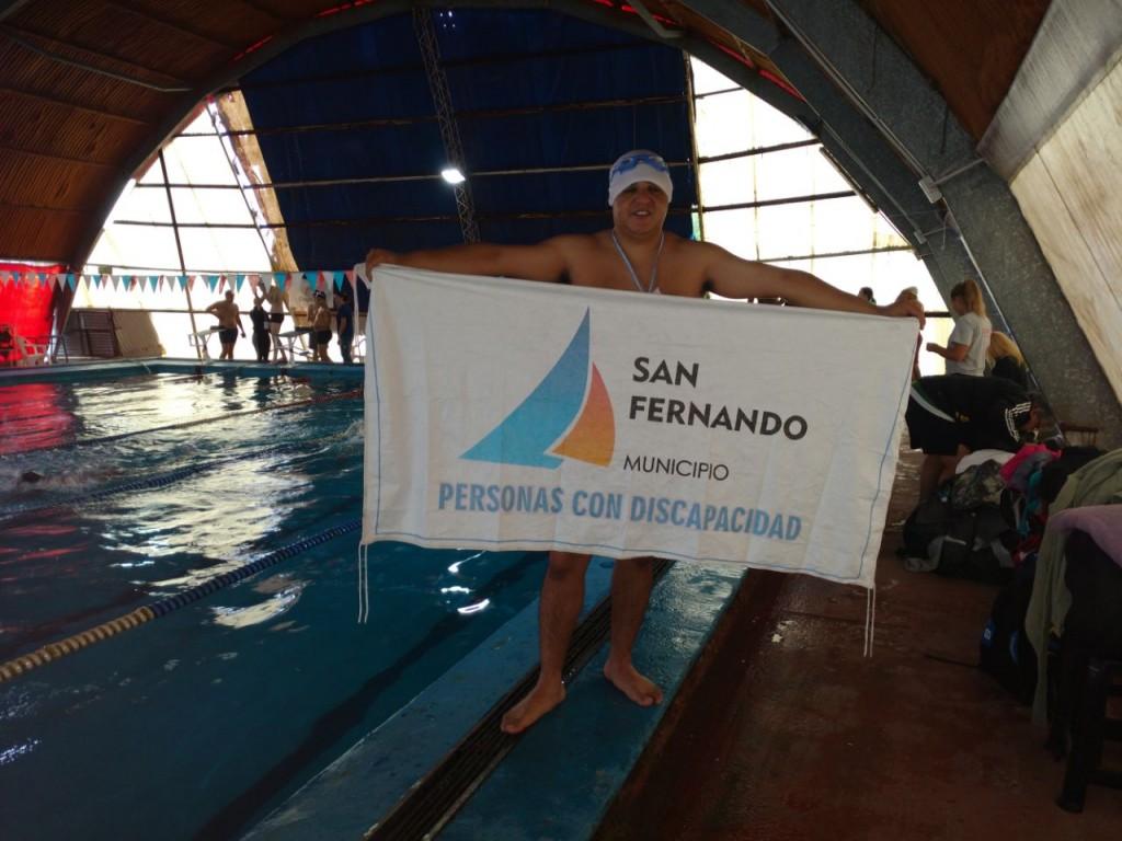 San Fernando obtuvo una medalla de Oro en el Nacional de Natación Adaptada