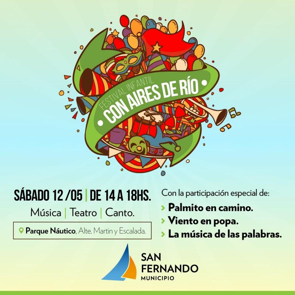 """Llega el festival infantil """"Con aires de río"""" al Parque Náutico"""