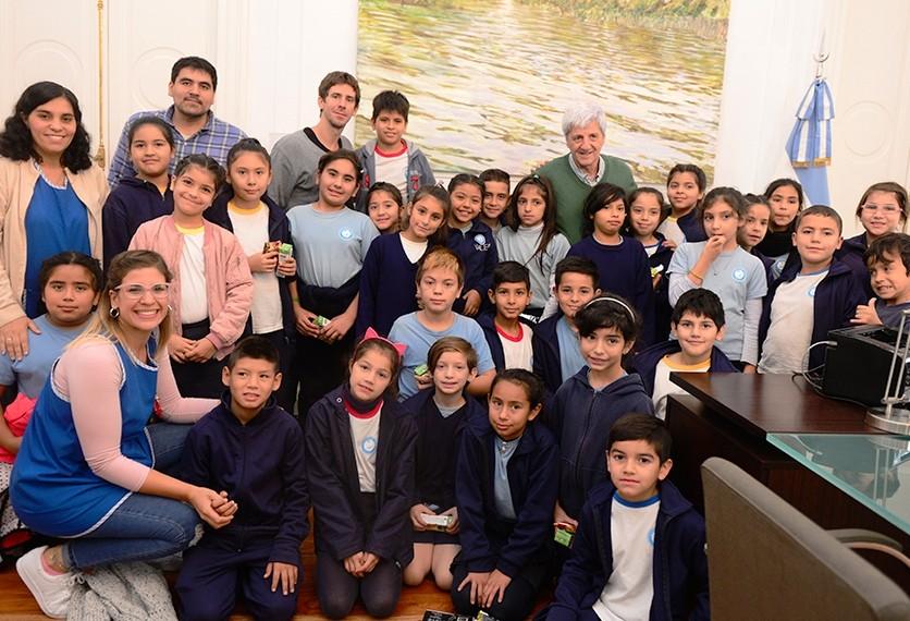 Andreotti recibió a chicos de 4to grado en el Municipio