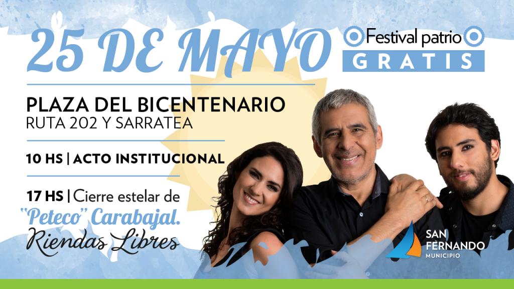 San Fernando celebra el aniversario 208° de la Revolución de Mayo