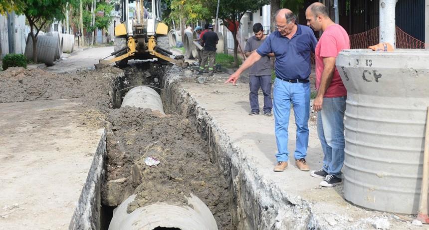 El Municipio construye una importante obra hidráulica en Virreyes