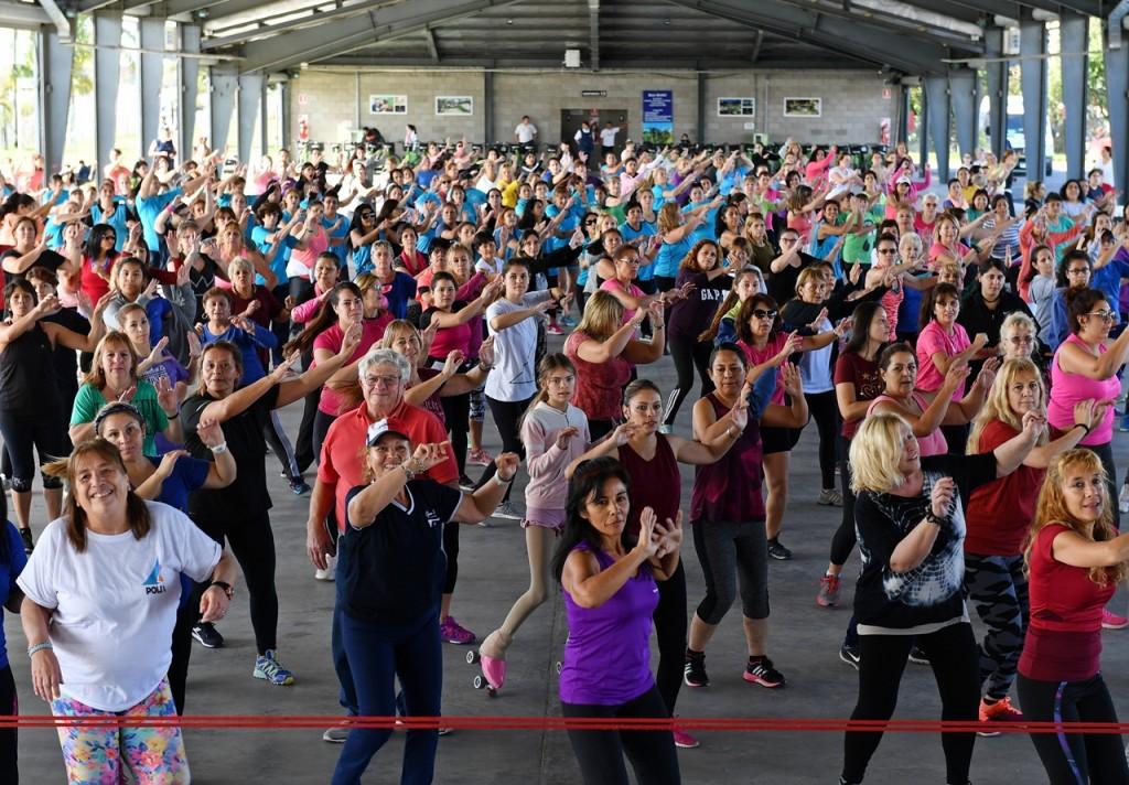 Los sanfernandinos disfrutaron de inolvidable masterclass de fitness en el Parque Náutico