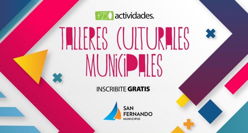 Todavía quedan cupos para los Talleres Culturales Municipales de San Fernando
