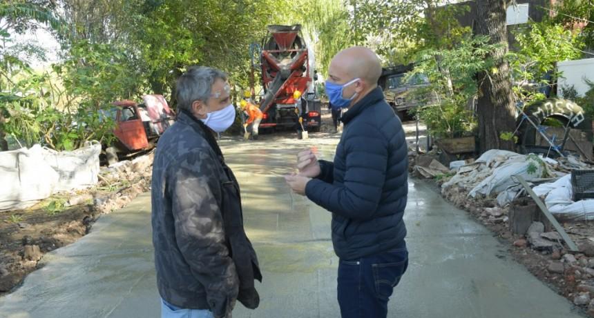 San Fernando empezó a reactivar obras en cuarentena con la renovación de la calle Malvinas Argentinas